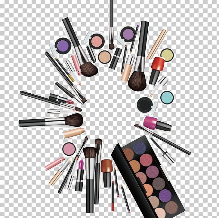 Cosmetics Makeup Brush Make Up Png Background Vector Beauty Beauty Background Brand Brush Makeup Cosmetics Makeup Brushes Makeup
