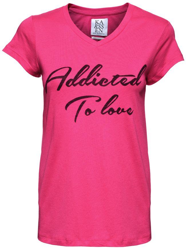 Addicted To Love T-Shirt - Beetroot | ZOE KARSSEN | Designers | Buy online at Shop-Label.com, South Africa.