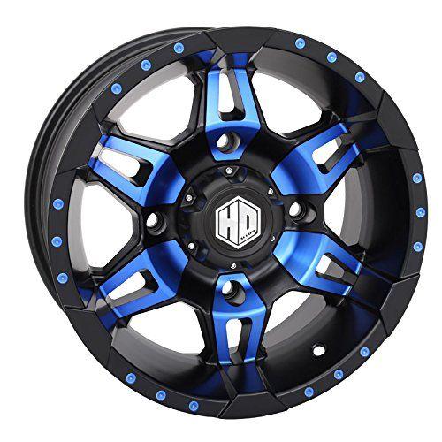 STI HD7 Radiant Blue/Matte Black ATV Wheel 14x7 4/156 (4+3) [14HD703-BLU]. For product info go to:  https://www.caraccessoriesonlinemarket.com/sti-hd7-radiant-bluematte-black-atv-wheel-14x7-4156-43-14hd703-blu/