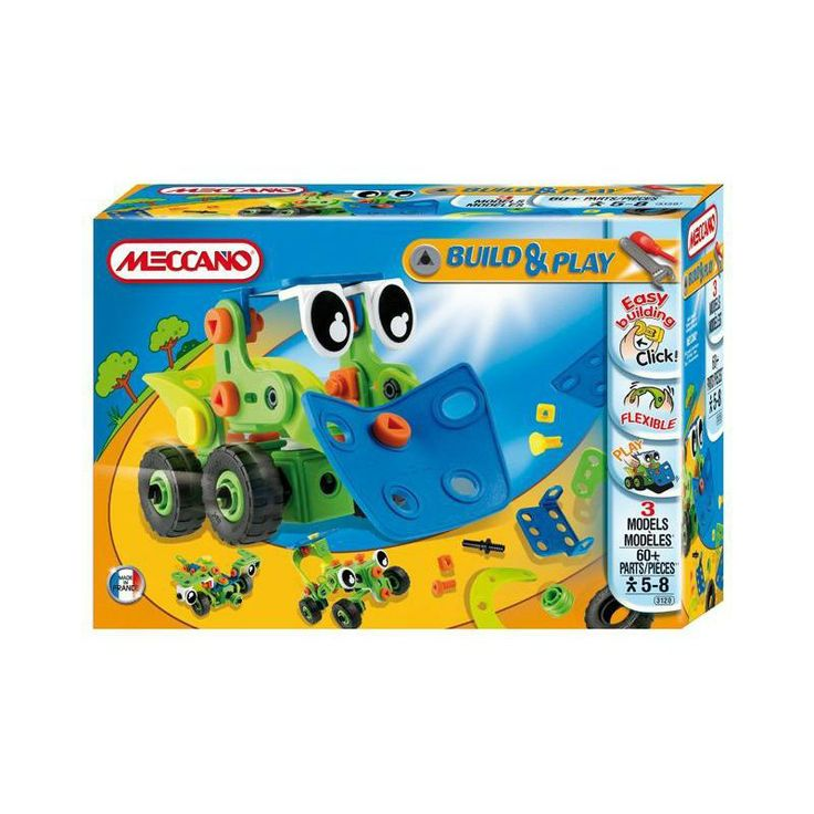 Meccano Build and Play range is a great starter for the little ones.  AGE:  3+