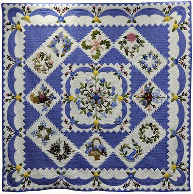 Claire's Quilt  (a Conway Album Quilt) by 17 members of the Guild of Quilters of Contra Costa County
