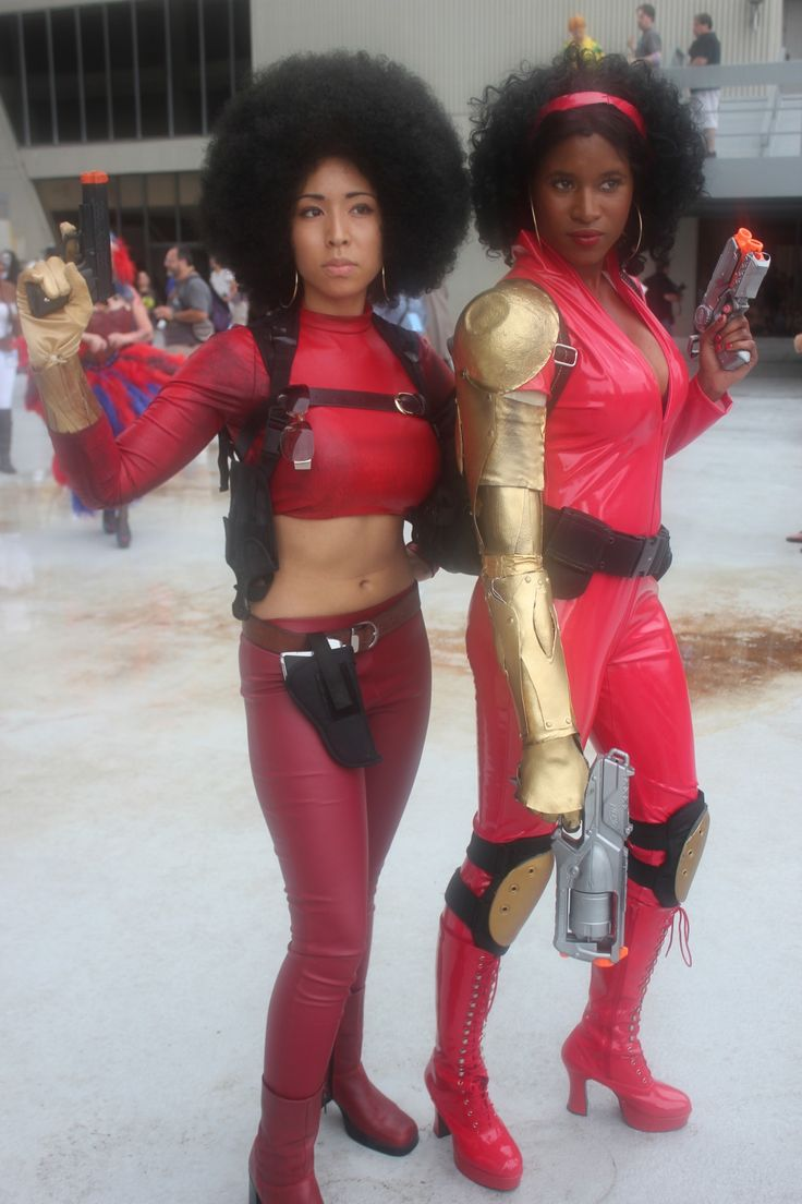 Two versions of Marvel's Misty Knight |dragon knight cosplay | Tumblr #cosplay