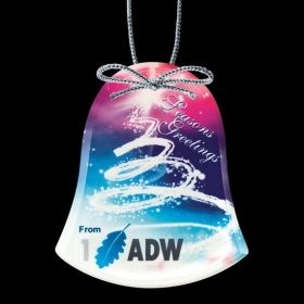 """Promotional Products Ideas That Work: VividPrint™ Ornament - Bell 3-7/8"""". Get yours at www.luscangroup.com"""