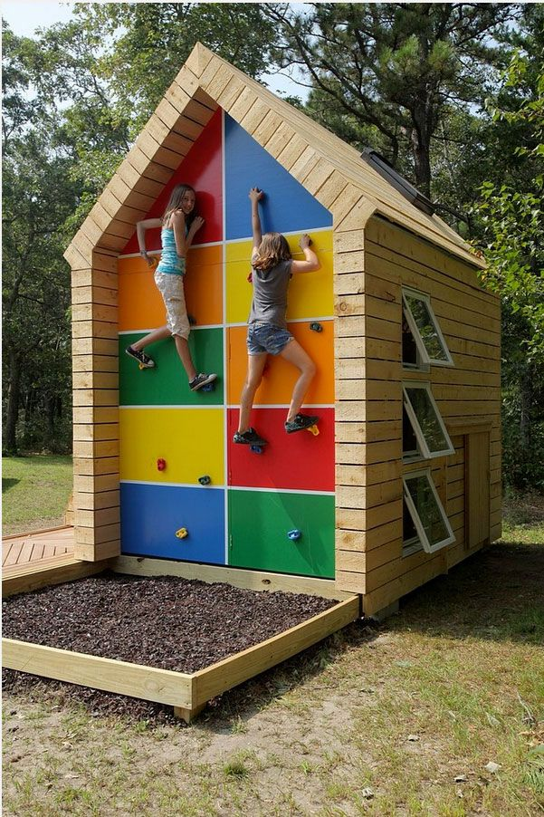 12 AMAZING ROCK CLIMBING WALLS FOR KIDS! I want this one in the back yard with a few alterations ;-)