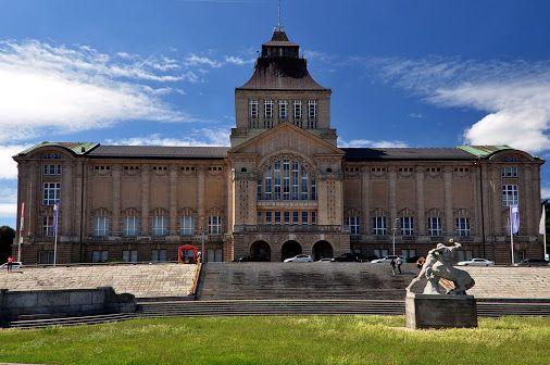 Szczecin Stettin teatr Wały Chrobrego muzeum Польша .