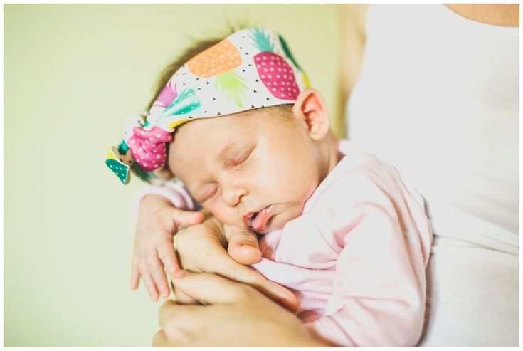 When Two became Three - Evie Violet - Newborn head band