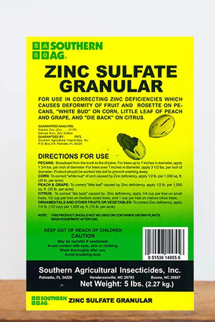 Southern Ag Zinc Sulfate Granular - 5 lb - 5 lb - 5 lb