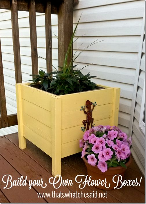 How to make your own Flower Boxes at thatswhatchesaid.net #diy #flowerboxes #garden