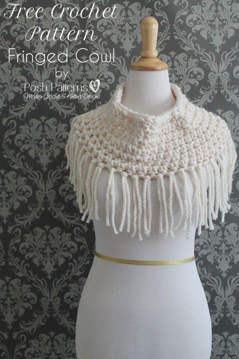 Fringe cowl free #crochet pattern from @PoshCrochetKnit