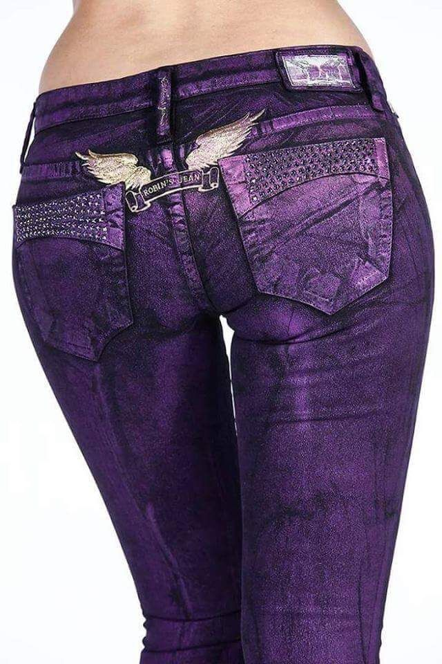 PURPLE Robin's Jean - women's fashion - colored skinny jeans