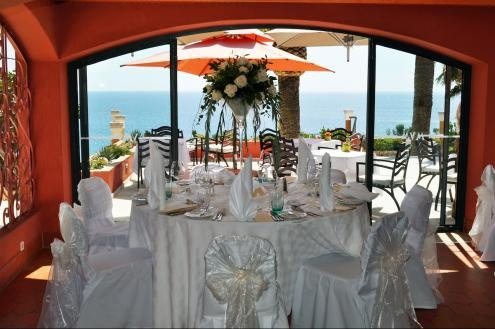 View to the sea from the wedding breakfast at Boutique Hotel Vivenda Miranda