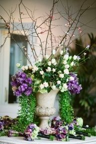 A Great Display For Easter   Roses, Blossom U0026 Delphiniums   I Love These  Big Massive Arrangements