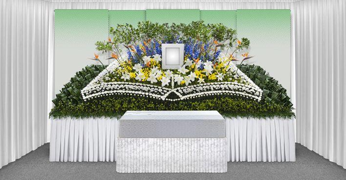ストーリー花祭壇 Story Hanasaidan Funeral Flower Altar 葬儀の花 祭壇 花