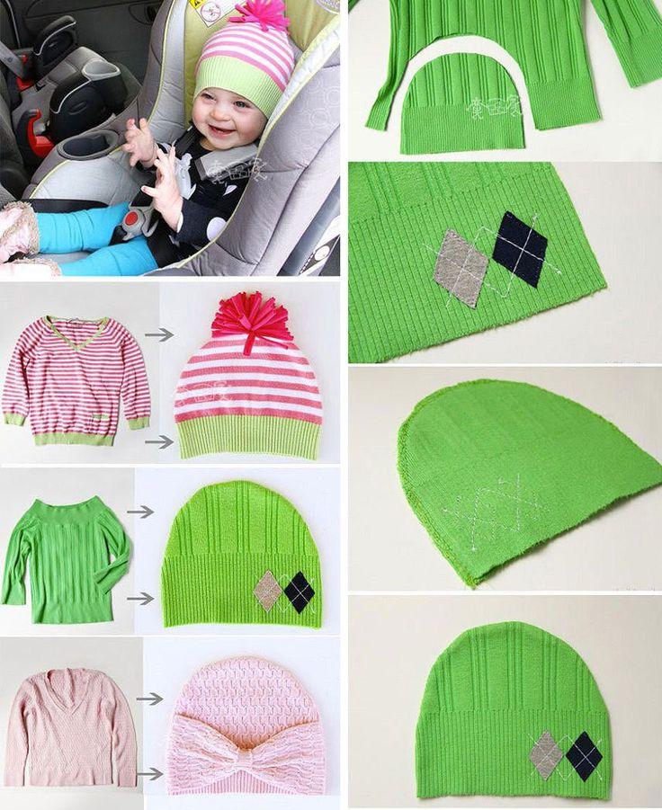 Riutilizzare i maglioni di lana - Cappellino di lana
