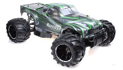 Price - $645.95. 1/5Th Exceed RC Hannibal 30Cc Gas Off-Road RC Monster Truck 2.4Ghz RTR Green NEW ( Brand - Exceed RC, MPN - Does Not Apply, Type - Trucks, Fuel Source - Gasoline, State of Assembly - Ready To Run, Scale - 1:5, Gender - Boys & Girls, Model - Hannibal, Country of Manufacture - China, Color - Green, Ages - 14+, UPC - Does Not Apply    )