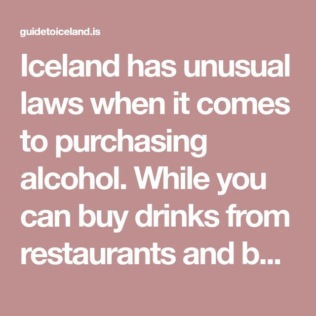 Iceland has unusual laws when it comes to purchasing alcohol. While you can buy drinks from restaurants and bars as easily as you can in most other European countries, they are not available in supermarkets or corner-shops. The only places you can purchase them to take home are at the airport and in the government-run liquor stores, called Vínbúðin. Vínbúðin shops, however, have relatively narrow opening hours, are not located in easily accessible locations all over the country, and sell…