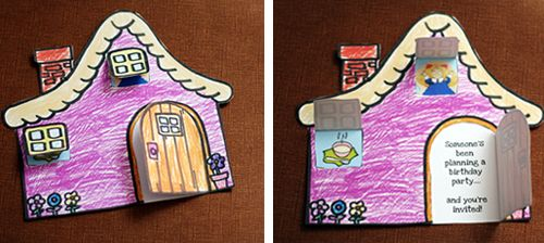 Goldilocks Invite Main Great Idea For Gingerbread Cottage