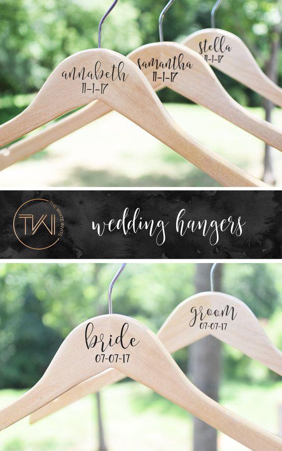 Wedding Hanger Wedding Dress Hanger by TheWhiteInviteGifts on Etsy