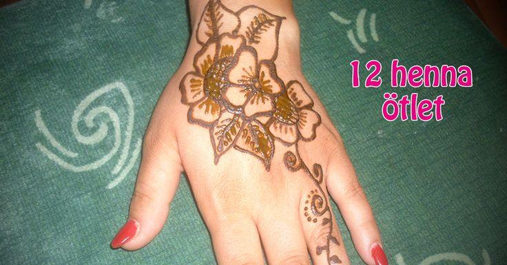 12 könnyen megvalósítható henna ötlet inspirációnak! #henna #hennadesign #hennatattoo