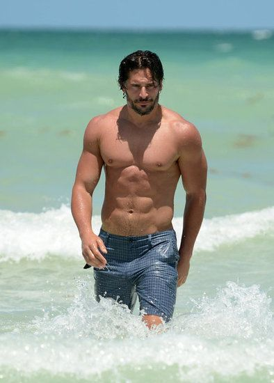Joe Manganiello: Adding to True Blood's roster of fit men, Joe is pure muscle, which a larger audience was witness to as he danced his way through Magic Mike. His regimen includes cardio, lots of meat, and strength training.