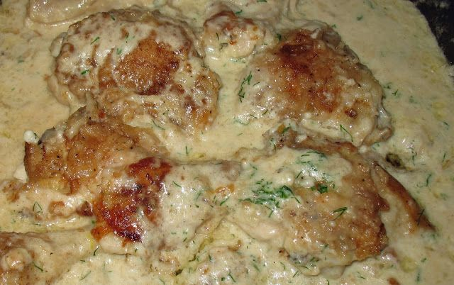 Glamping Baba: Ukrainian Chicken in Cream with Dill