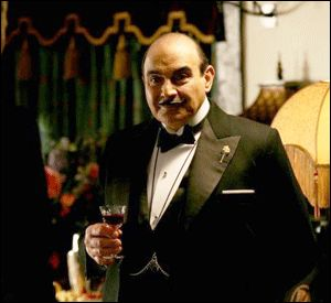 Hercule Poirot - who cares he isn't a real person?  I adore him!  David Suchet is interesting too.
