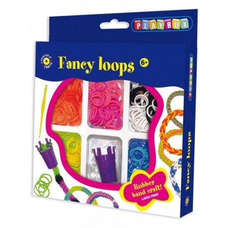 Gioco creativo giocattolo set kit bambine braccialetti 300 elastici fancy loops