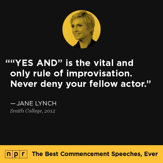 Jane Lynch, 2012. From NPR's The Best Commencement Speeches, Ever.