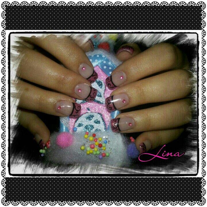 #gel #pink #french #nailart