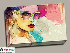 tablou canvas modern cu ilustratie femeie pentru sufragerie