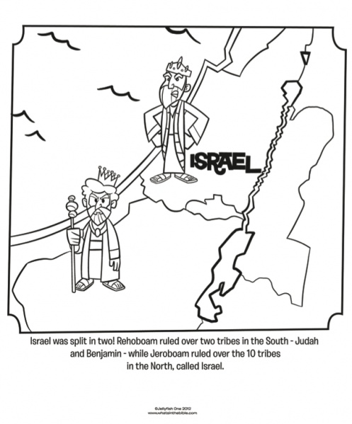 Israel And Judah Coloring Page