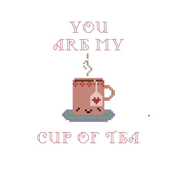 Kawaii Cross Stitch Pattern - PDF Pattern - Valentines Day Cross Stitch Pattern