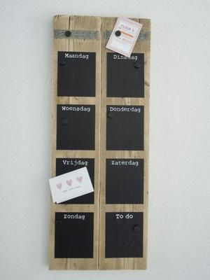 Bekijk de foto van suuuzann met als titel Krijtbord   magneet weekplanner  en andere inspirerende plaatjes op Welke.nl.