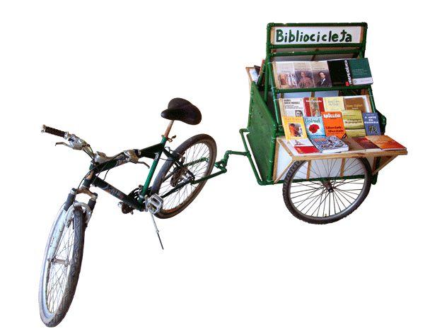 ecobacana: Bicicleta + Livros = Bibliocicleta Tem coisa mais bacana que bicicleta e livros? #sustentabilidade