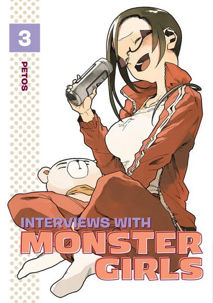 Interviews with Monster Girls volume 3 features story and art by Petos.  From making sure Hikari the vampire has what she needs when the urge to bite hits, to helping Kyoko the dullahan get home in the rain, high school biology teacher Tetsuo Takahashi is doing everything he can to make sure his demi students are comfortable and confident. But what about a demi who is forced to hide her abilities?  Fellow teacher and succubus Sakie Sato is used to living an isolated life so her overwhelming…
