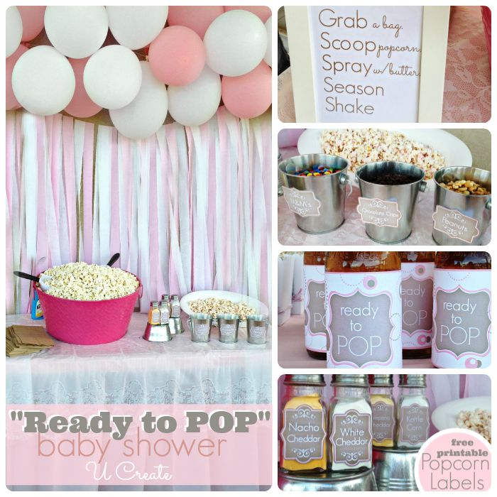 """Ready to """"POP"""" baby shower with tons of ideas and free printables"""