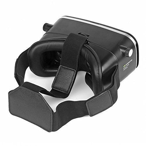 "ZiKON 3D VR Headset Glasses Virtual Reality Mobile Phone 3D Movies for iPhone 6s/6 plus/6/5s/5c/5 Samsung Galaxy s5/s6/note4/note5 and Other 4.7″-6.0″ Cellphones + Remote Controller  Product Description Color:  SHINECON (Black) + Remote Controller        INSTRUCTIONS:       1.You just need to download ""VR Games"" Apps or""3D Split Screen"" Videos to your smartphone.   2.Wearing on head. Adjust the straps for suitable tightness), then it will focus automatically.   3.Amazing Video Movie .."