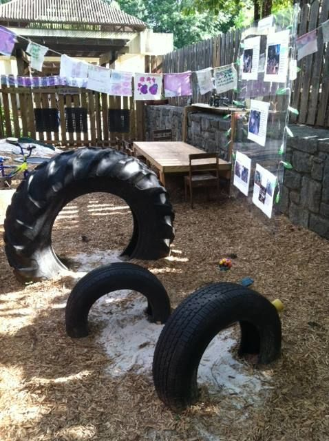 The new play yard the children designed and built - Turning Sun School ≈≈