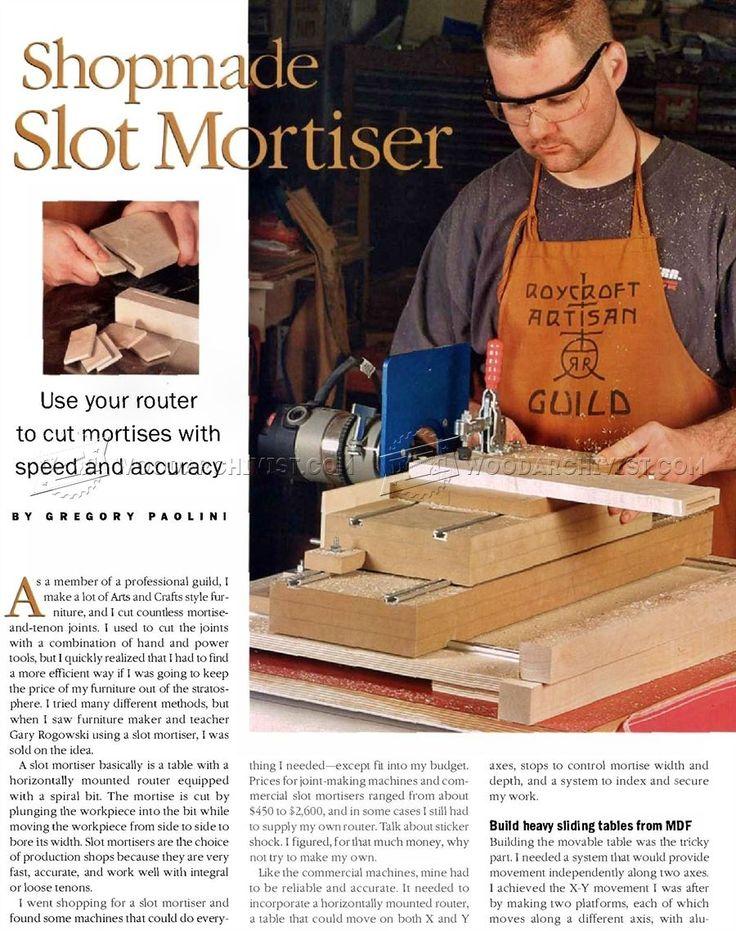 #2043 DIY Slot Mortiser - Joinery