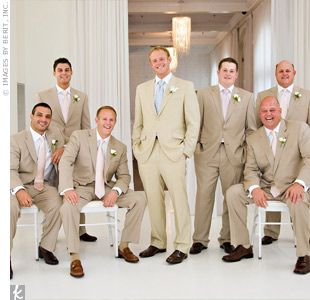 What Colors Should The Guys Be Wearing Wedding Groomsmenclothes Khaki Suit
