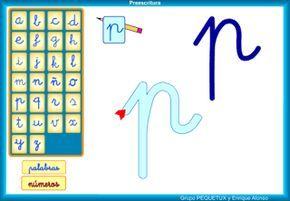 Tic para aprender la correcta direccionalidad de las letras en minúscula. http://serbal.pntic.mec.es/ealg0027/preescritura.html