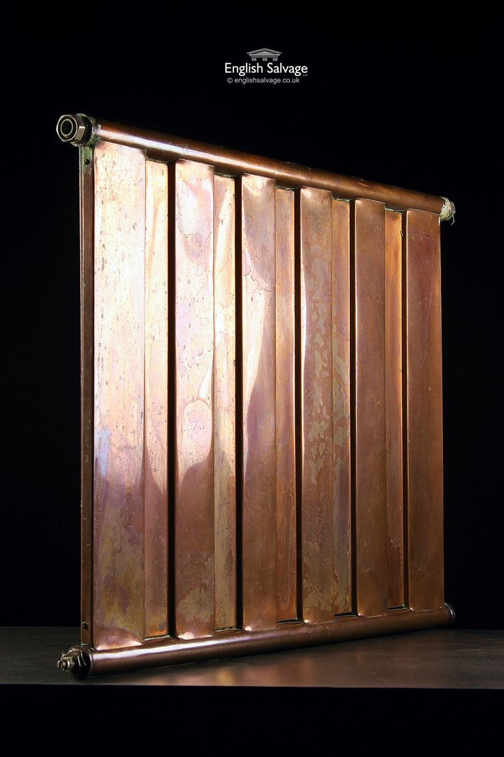 Old Flat Wall Mounted Copper Radiator