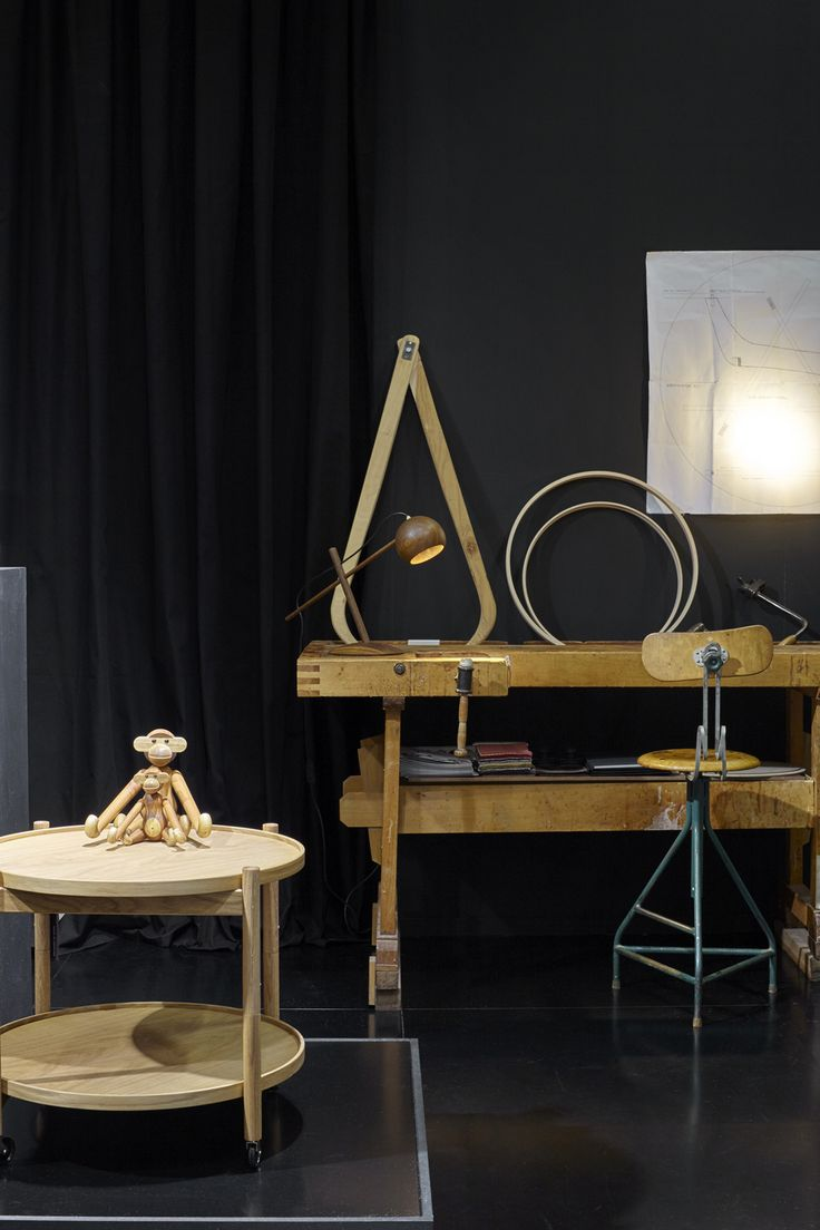 A small corner of our fair stand!  #rosendahlcph #wooden #monkey #traytable #hansbølling #lunelamp #sverreuhnger
