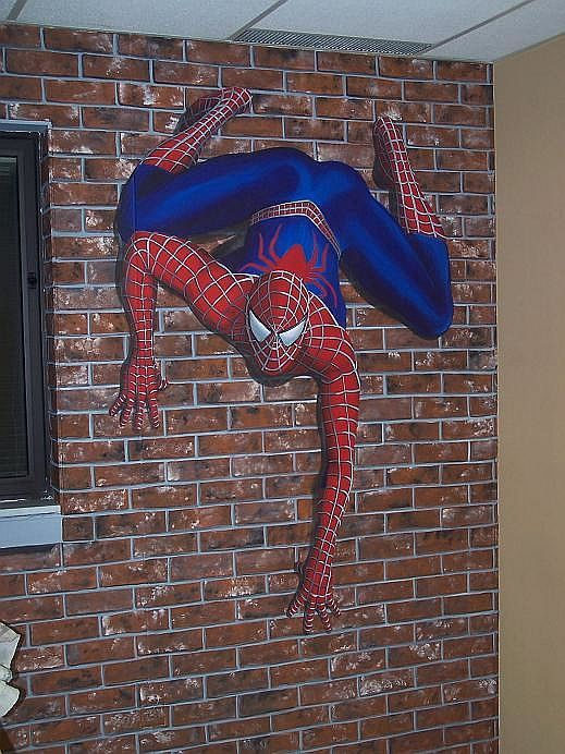 Spiderman mural by Glenda Krauss in Louisville KY