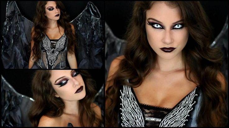 maquillaje de carnaval ángel oscuro