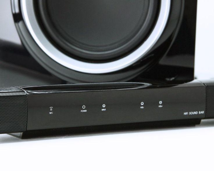 Turcom Premium 2.1 Ch. Wireless Soundbar with Subwoofer, Bluetooth NFC, Remote Control