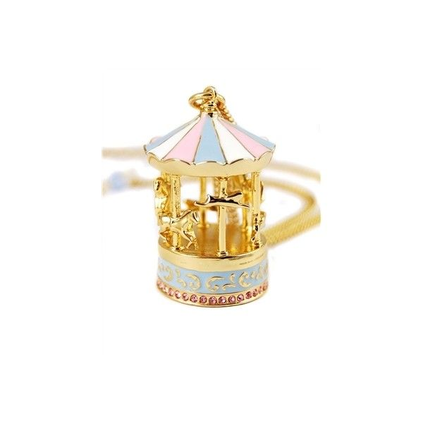 Dumbo Carousel Necklace by Disney Couture ($60) ❤ liked on Polyvore featuring jewelry, necklaces, accessories, disney, disney couture necklace, disney couture and disney couture jewelry