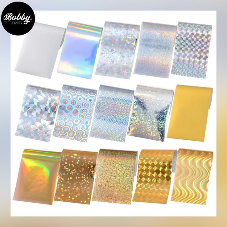 Holo Gold and Silver foils - 15 sheets