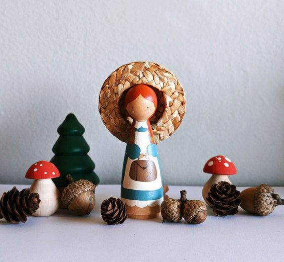 Anne of Green Gables peg doll