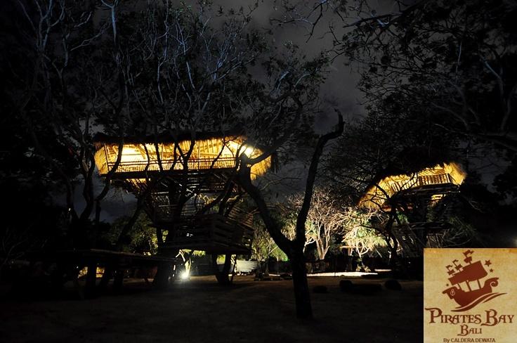 tree house  The Pirates bay Nusa Dua Bali. Indonesia